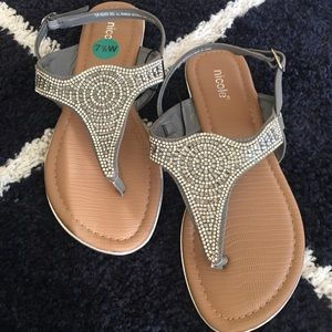 Rhinestone sandals size 7.5
